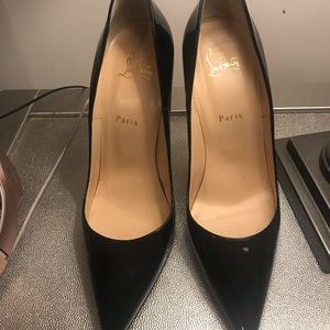 So Kate 120 Black patent leather heels